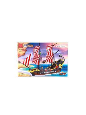 Конструктор пластиковый Пиратский корабль ENLIGHTEN. Цвет: коричневый, желтый, черный