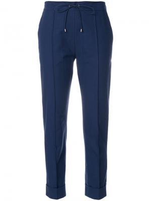 Укороченные брюки слим Kenzo. Цвет: синий