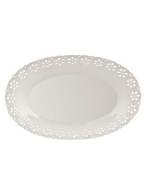 Блюдо Rishelie Elff Ceramics. Цвет: белый