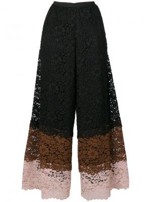 Кружевные укороченные брюки Antonio Marras. Цвет: чёрный