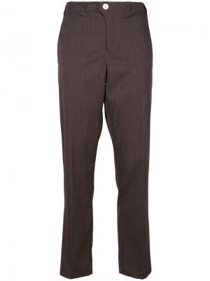 Прямые брюки Julien David. Цвет: коричневый
