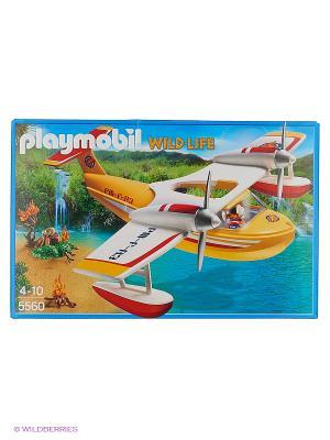 В Поисках Приключений: Самолет борется с огнем Playmobil. Цвет: белый, желтый