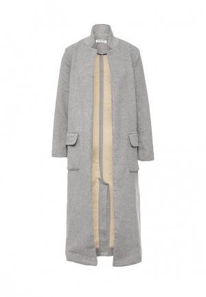 Пальто GLAMOROUS. Цвет: серый