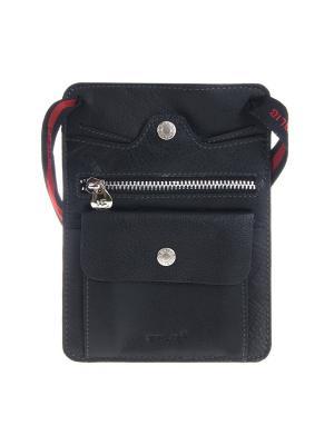Сумка-кошелек GALIB. Цвет: черный