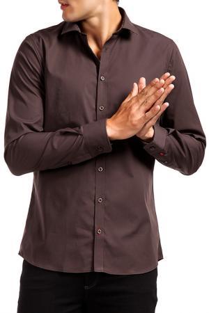 Рубашка Pure. Цвет: коричневый