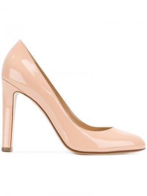 Туфли на высоком каблуке Francesco Russo. Цвет: телесный