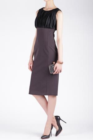Платье из вискозы и шерсти Maurizio Pecoraro. Цвет: черный