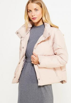 Куртка утепленная LOST INK. Цвет: розовый