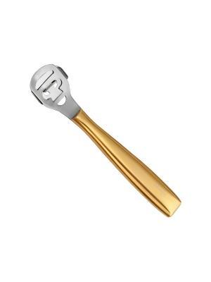 Станок для педикюра Solinberg 13009/3, золотистая металлическая ручка, съёмное лезвие.. Цвет: золотистый