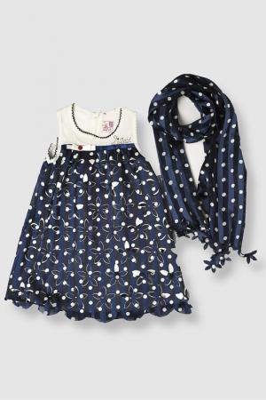 Платье, шарф Lilax Baby. Цвет: синий