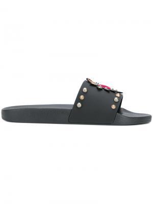 Шлепанцы Sacred Heart Dolce & Gabbana. Цвет: чёрный
