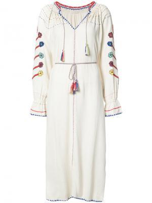Платье Natalia Ulla Johnson. Цвет: белый