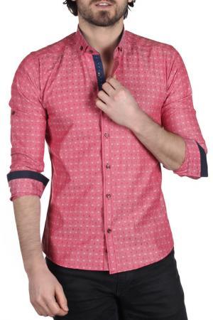Рубашка BRANGO. Цвет: розовый