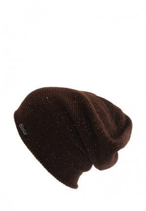 Шапка StaiX. Цвет: коричневый