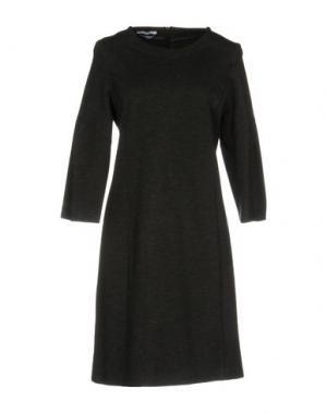 Короткое платье BIANCOGHIACCIO. Цвет: свинцово-серый