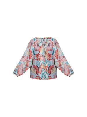 Блуза KR. Цвет: зеленый, бежевый, розовый