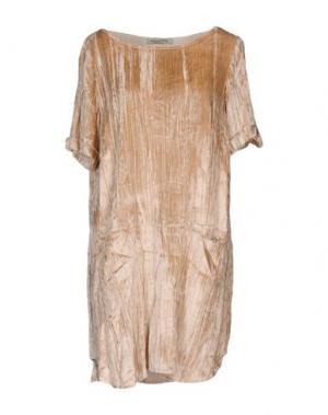 Короткое платье PAOLO CASALINI. Цвет: бежевый