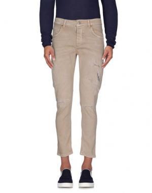Джинсовые брюки - -ONE > ∞. Цвет: хаки