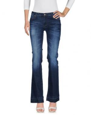 Джинсовые брюки RISSKIO. Цвет: синий