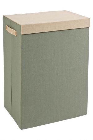 Корзина для белья 40x30x60 Bizzotto. Цвет: зеленый