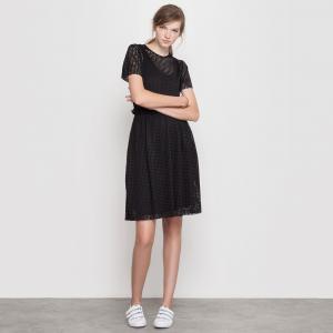 Платье MADEMOISELLE R. Цвет: розовый,черный + розовый