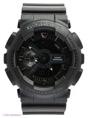 Часы G-SHOCK GA-110-1B CASIO. Цвет: черный