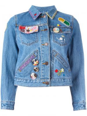 Джинсовая куртка с вышивкой Marc Jacobs. Цвет: синий
