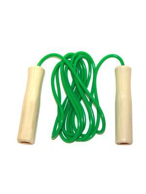 Скакалка Eleon. Цвет: зеленый, бежевый
