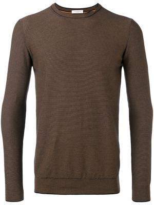 Джемпер с разрезами Paolo Pecora. Цвет: коричневый