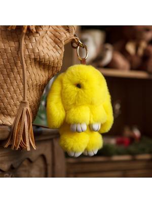 Кролик-брелок GOOD MOOD. Цвет: желтый