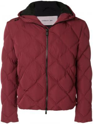 Стеганое пальто Cerruti 1881. Цвет: красный