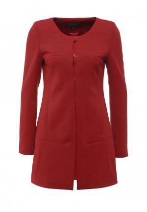 Пальто Piena. Цвет: красный