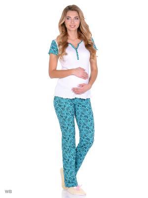 Комплект для беременных и кормящих FEST. Цвет: белый, зеленый