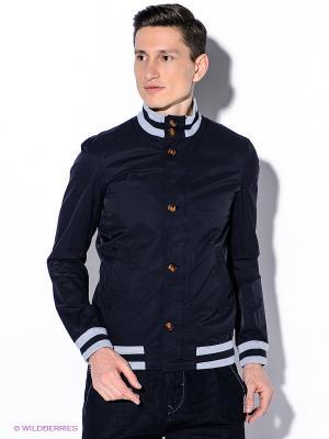 Куртка Oodji. Цвет: темно-синий, серый