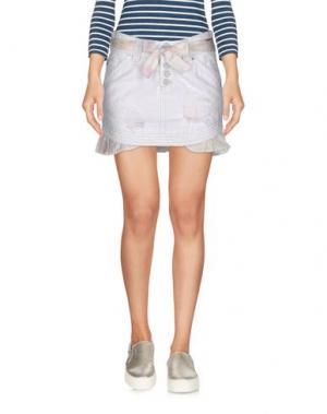 Джинсовая юбка TAKE-TWO. Цвет: белый