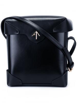 Мини-сумка Pristine Manu Atelier. Цвет: чёрный