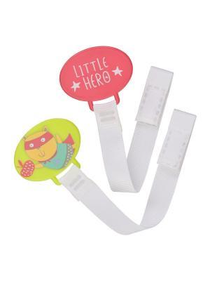 Держатель для пустышки HEROES Happy Baby. Цвет: бирюзовый, белый, красный, светло-зеленый, серый