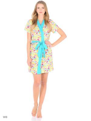 Комплект (Халат и сорочка) Magwear. Цвет: желтый, зеленый