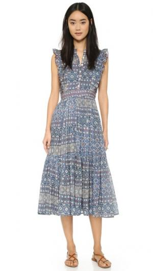 Платье в деревенском стиле Carolina K. Цвет: голубой
