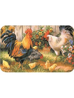 Плейсмат с принтом, набор 4 шт. ПВХ Dorothy's Home. Цвет: желтый, зеленый, оранжевый