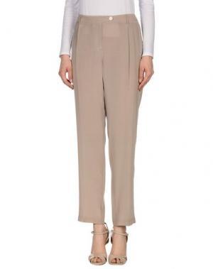 Повседневные брюки GOLD CASE. Цвет: голубиный серый
