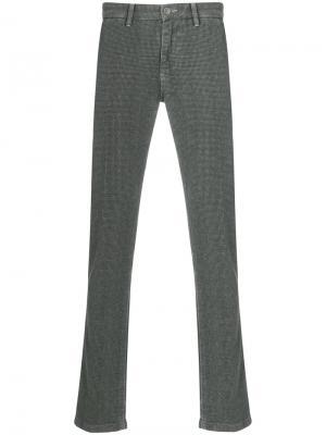 Классические брюки в клетку Re-Hash. Цвет: зелёный