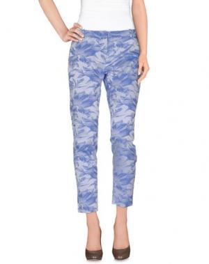 Повседневные брюки TERESA DAINELLI. Цвет: небесно-голубой