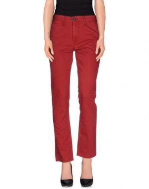Повседневные брюки !SOLID. Цвет: пурпурный