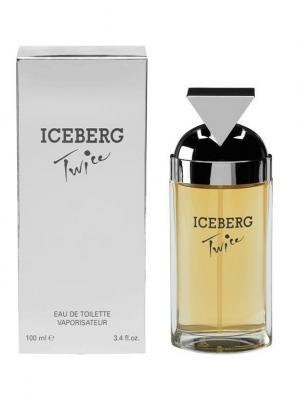 Туалетная вода Twice, 100 мл Iceberg. Цвет: серебристый, бежевый