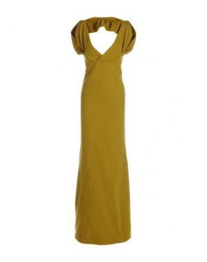 Длинное платье DSQUARED2. Цвет: кислотно-зеленый