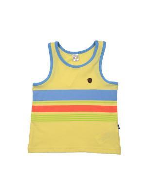 Майка бельевая Mini Maxi. Цвет: желтый