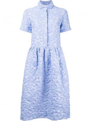 Расклешенное платье Henry Shrimps. Цвет: синий