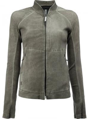 Куртка на молнии с высоким воротом Isaac Sellam Experience. Цвет: серый
