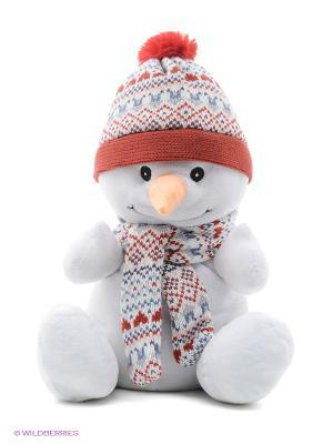 Игрушка-грелка Снеговик Warmies. Цвет: белый